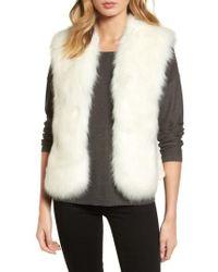 Love Token | Faux Fur Knit Vest | Lyst