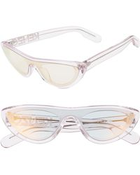 KENZO 55mm International Fit Cat Eye Shield Sunglasses - Crystal Pink/ Violet