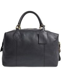 Barbour - Leather Duffel Bag - - Lyst