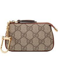 e3810ab16c5 Gucci - Linea Gg Supreme Canvas Key Case Pouch - Lyst