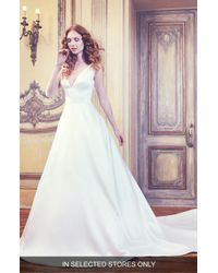 Sareh Nouri - Waldorf V-neck Shantung Gown - Lyst