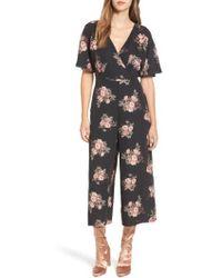 June & Hudson - Short Sleeve Jumpsuit - Lyst