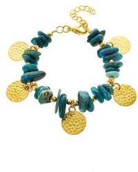 Panacea - Chip Stone Disc Bracelet - Lyst