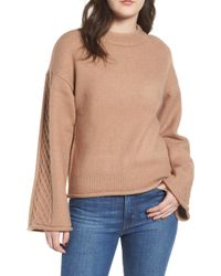 Love By Design - Lattice Sleeve Sweater - Lyst