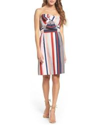 Sam Edelman - Stripe Strapless Dress - Lyst
