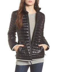 Marc New York - Stripe Trim Packable Down Jacket - Lyst