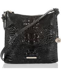 Brahmin Katie Croc Embossed Leather Crossbody Bag