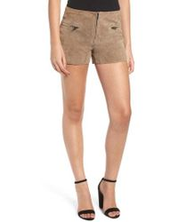Blank NYC - Suede Shorts - Lyst