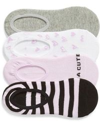 Sockart - Kinda Cute 4-pack No-show Socks, Purple - Lyst
