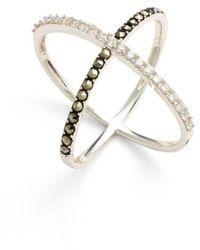 Judith Jack - 'rings & Things' Crossover Ring - Lyst