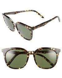 Victoria Beckham - Combination Classic 56mm Sunglasses - Amber Tortoise Shell - Lyst