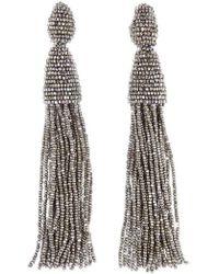 Oscar de la Renta | Long Tassel Drop Earrings | Lyst