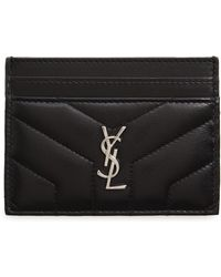 Saint Laurent - Loulou Monogram Quilted Leather Credit Card Case - - Lyst