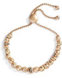 Treasure & Bond - Hammered Sphere Charm Adjustable Bracelet - Lyst