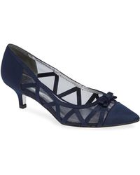 Adrianna Papell - Lana Pointed Mesh Pumps - Lyst
