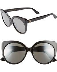 1717e8d4c70 Lyst - Gucci 57mm Cat Eye Sunglasses in Metallic