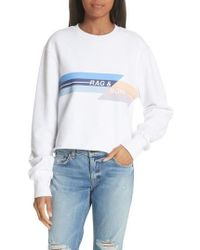 Rag & Bone - Glitch Crop Sweatshirt - Lyst