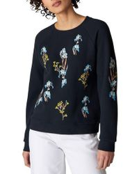 Whistles - Iris Floral Embroidered Sweater - Lyst