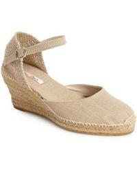 Toni Pons - 'caldes' Linen Wedge Sandal - Lyst
