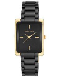 Anne Klein - Rectangle Ceramic Bracelet Watch - Lyst