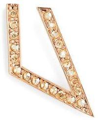 St. John - Swarovski Crystal Angular Hoop Earrings - Lyst