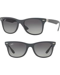 3a7511d97c Lyst - Ray-Ban Wayfarer Liteforce 52mm Sunglasses - in Gray for Men