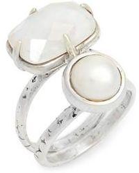 Chan Luu - Pearl & Moonstone Ring - Lyst