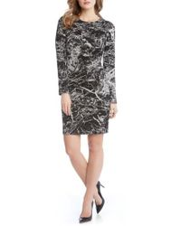 Karen Kane - Granite Print Dress - Lyst