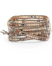 Chan Luu - Agate & Freshwater Pearl Wrap Bracelet - Lyst