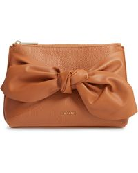 Ted Baker - Darnna Soft Knot Leather Clutch - Lyst
