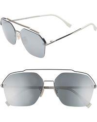 Fendi - 61mm Navigator Sunglasses - - Lyst