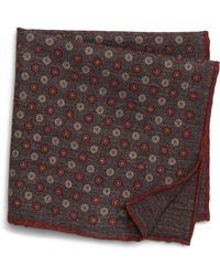 Eleventy - Floral Wool & Cotton Pocket Square - Lyst