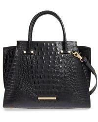 Brahmin | 'priscilla' Croc Embossed Leather Satchel | Lyst