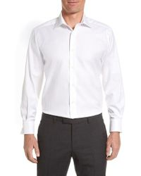 David Donahue - Regular Fit Oxford Dress Shirt - Lyst