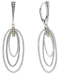 Lagos - Caviar 'superfine' Two-tone Drop Earrings - Lyst
