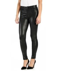 PAIGE - 'hoxton' High Rise Ultra Skinny Leather Pants - Lyst
