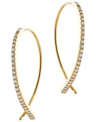 Lana Jewelry - Dia Small Upside Down Flawless Diamond Earrings - Lyst