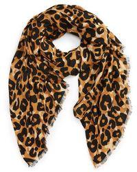Sole Society - Cheetah Print Scarf - Lyst
