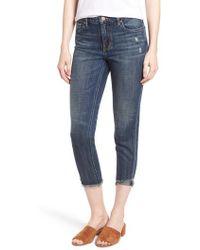 Habitual - Vale Slant Fray Hem Jeans - Lyst