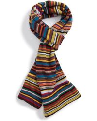 Paul Smith - Multistripe Knit Scarf - Lyst