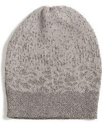 Eileen Fisher - Metallic Beanie Hat - Lyst