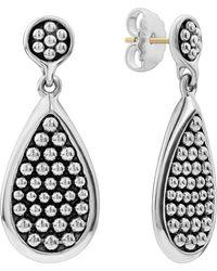 Lagos - Bold Caviar Medium Flat Drop Earrings - Lyst