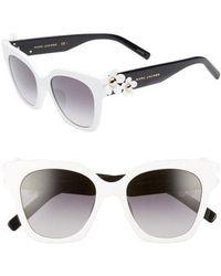 Marc Jacobs - 52mm Daisy Cat Eye Sunglasses - Lyst