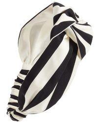 Cara - Oversize Stripe Head Wrap - Lyst