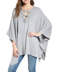 BISHOP AND YOUNG - Bishop + Young Harper Lace-up Poncho - Lyst