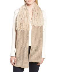La Fiorentina - Genuine Rabbit Fur & Acrylic Knit Scarf - Lyst