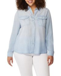 REBEL WILSON X ANGELS - Embroidered Chambray Utility Shirt - Lyst