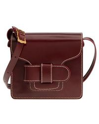 Trademark - Greta Leather Crossbody Bag - Burgundy - Lyst