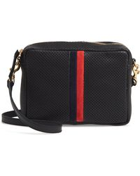Clare V. - Midi Sac Perforated Leather Crossbody Bag - Lyst