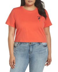 Glamorous - Parrot-dise Embroidered Crop Tee - Lyst